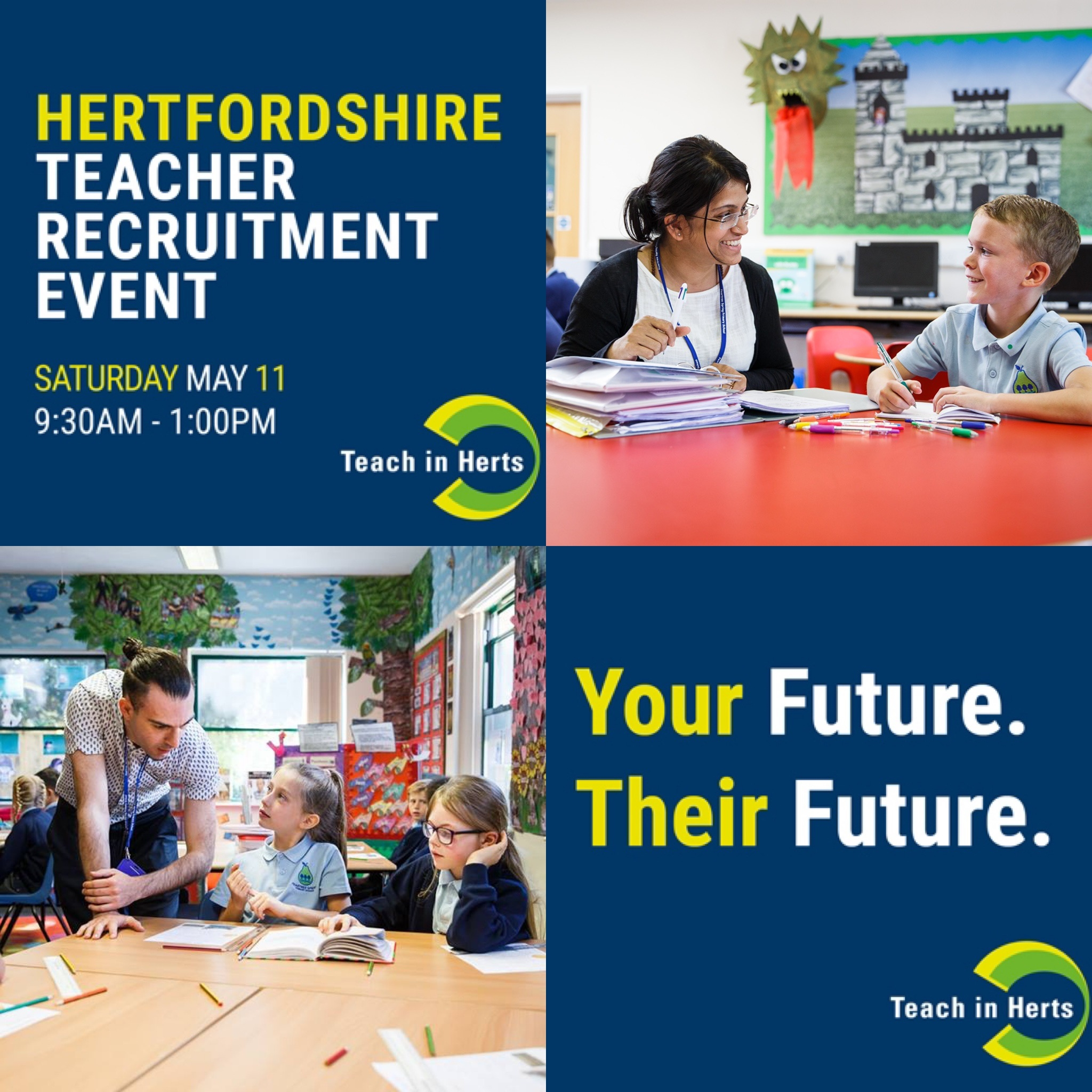 Your Future. Their Future. Book now for the last Herts Teacher Recruitment Fair of 2019!